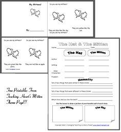 Free mitten printables! So cute!