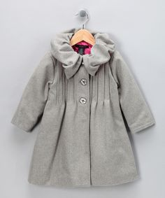 Gray Swing Coat by Calvin Klein