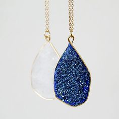 Make this quick and easy faux geode necklace using one of my favourite materials!