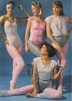 vintag, aerobics 1980s, 1980s workout, 80s workout video, 1980s style, 1980 fashion gym, 1980's leotard, 1980s fashion, 80s colorful workout