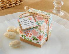 floral garden wedding favor boxes #wedding #favors #ideas #garden #floral #boxes
