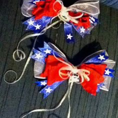 4th of July hair bows I designed :)