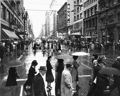 Rainy Day in Los Angeles - 1950s