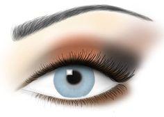 Eye makeup for blue eyes via @Jane Izard iredale - THE SKIN CARE MAKEUP Makeup Blog