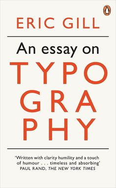 Tumblr: eric gill on typography, book cover