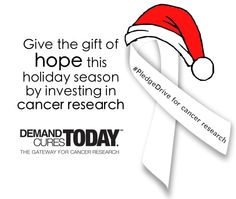 Give the gift of hope this holiday season by investing in #cancer research.