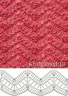 Open, lacy ripple stitch