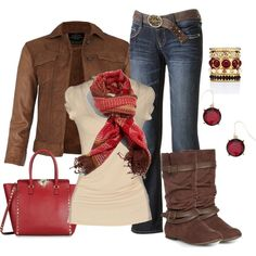 Autumn Reds, created by smores1165 on Polyvore