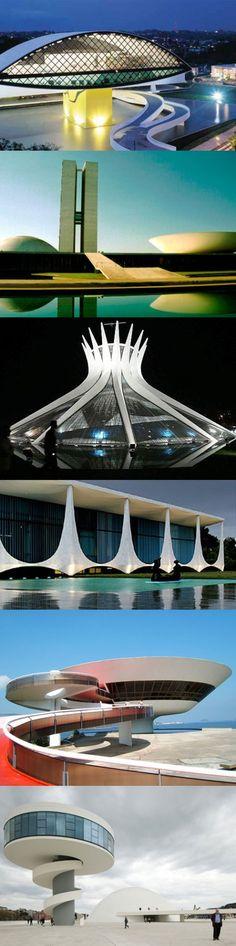 """Oscar Niemayer's """"greatest hits."""" Brasilia #Brasil"""