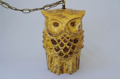 Vintage Hanging Owl Swag Lamp by boundforgloryresale on Etsy, $145.00