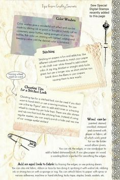 Page 2 of How to Age New Paper and Add Vintage Charm to Paper Crafts, Plus See Samples, Lists and Free Printable January 2014 Art Calendar