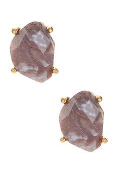 Organic Stone Stud Earrings