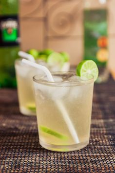 Chilcano de Pisco:  2 ounces Peruvian Pisco  1 tablespoon fresh squeezed key lime juice  3 drops Bitters  4 ounces ginger ale