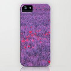 purple poppy field iPhone Case by Blackpool - $35.00