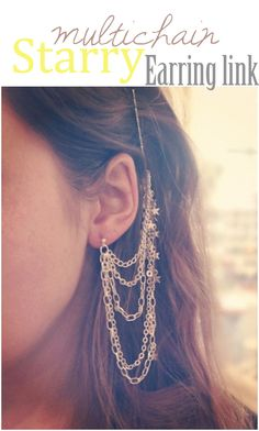 multichain earring, diy hair, hair clips, diy multichain, jewelry accessories, diy craft, diy idea, hair accessories, hair combs