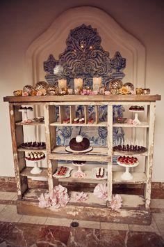 Rustic dessert display