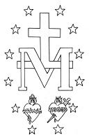 Coloring page for miraculous medal craft.