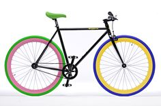 colorful fixie by Pure Fix Cycles