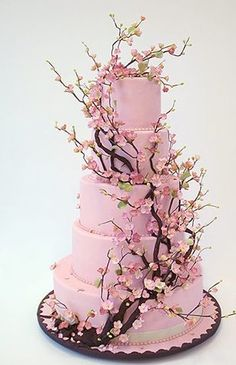 I dont have a wedding board or anything, but I couldnt help but post this cake!  We probably wouldnt do it in pink though! ;)