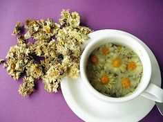 Chrysanthemum tea - in traditional Chinese medicine, chrysanthemum tea is known to improve eyesight, improve vitality, recover from influenza and prevent sore throats.