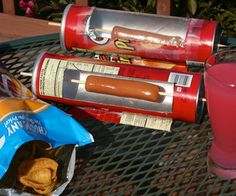 Hot Dog Cooker / Solar Oven with a pringles container