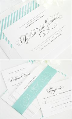 minted wedding invites  #mintwedding #shineinvitations #striped invitations http://www.weddingchicks.com/2014/01/14/shine-wedding-invitations/