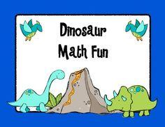 Dinosaur Math unit. LOTS of activities