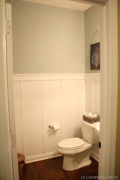 Half Bathroom...love the board and batten