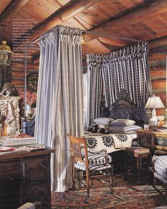 Charles Faudree, published Country French Decorating by Better Homes & Gardens Spring Summer 2006 kitchen, bedroom, curtain