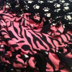 Tie knot blanket.