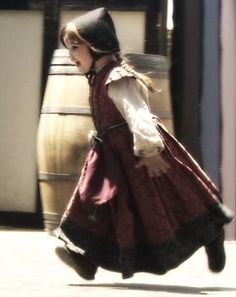 Little Scottish Girl Running