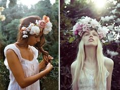 hair flowers, flower crowns, flowercrown, crown diy, beach hair, make flowers, make flower crown, flower hair, floral crowns