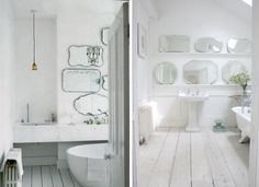 Two Victorian Baths with Multi-Mirrors, Remodelista