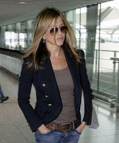 Navy blazer-so classy Jen! I'm Coveting this jacket!