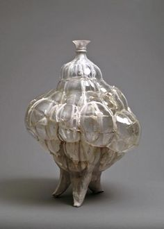Shari Mendelson    recycled plastic bottles, hot glue