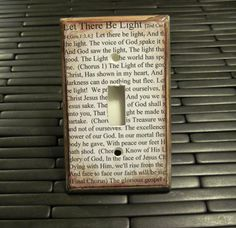 Bible Verse - Light Switch Plate - Now I know what I'm going to do with the old beat up Bible I found for 25 cents at Goodwill!  Time to get out the Modpodge and inks!