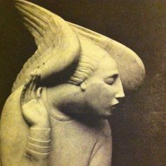 The Great Ivan Mestrovic's Archangel Gabriel from a Brooklyn Museum Catalogue published in 1924 museums, brooklyn museum, art, mestrov archangel, archangel gabriel, stone, angels, sculptur, ivan mestrov