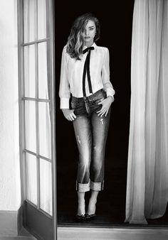 Miranda Kerr for 7 For All Mankind 2014 Denim Campaign