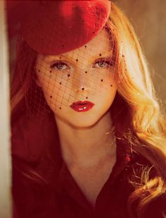 Model: Lily Cole | Photographer: Guy Aroch - for Harper's Bazaar UK, October