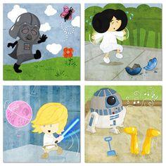Star Wars nursery art...too cute!
