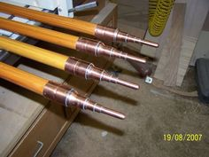 wood awning poles wi