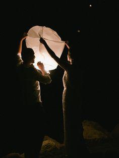 Romantic Tropical Haiti Wedding lantern