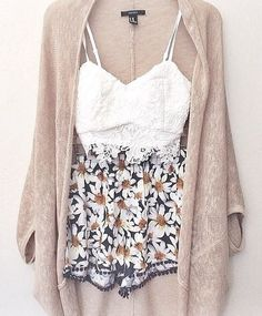 teen outfits, necessary clothing, daisi, summer outfits, summer nights, white lace, daisy print outfit, spring outfits, summer days