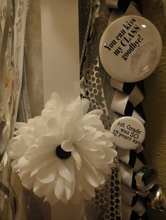 Senior Homecoming Mum Buttons by cynthsmthrmn, via Flickr