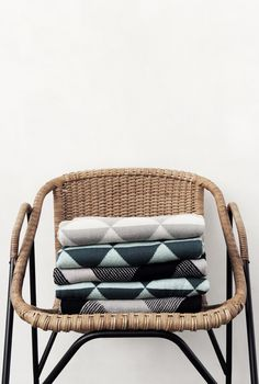 Ferm Living Remix Knitted Blanket - Grey, top, available at #polkadotpeacock. #peacocklove #fermliving