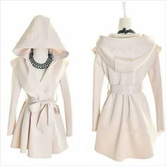 flawless fashion - Graceful Long Sleeves Solid Color Hooded Coat With Belt , $55.00 (http://www.flawlessfashionn.com/graceful-long-sleeves-solid-color-hooded-coat-with-belt/)