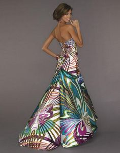 Multi-colored gown