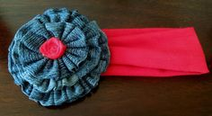 Sweet Denim Rose 2 in1 Headband/Brooch by TheUpChicBoutique, $6.00