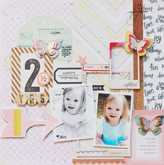 #papercraft #scrapbook #layout. 2 1/2 by beckyjune at @studio_calico