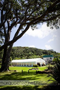 We were lucky enough to travel to Great Barrier Island to do this install amongst beautiful native bush. Wedding Marquee Hire NZ